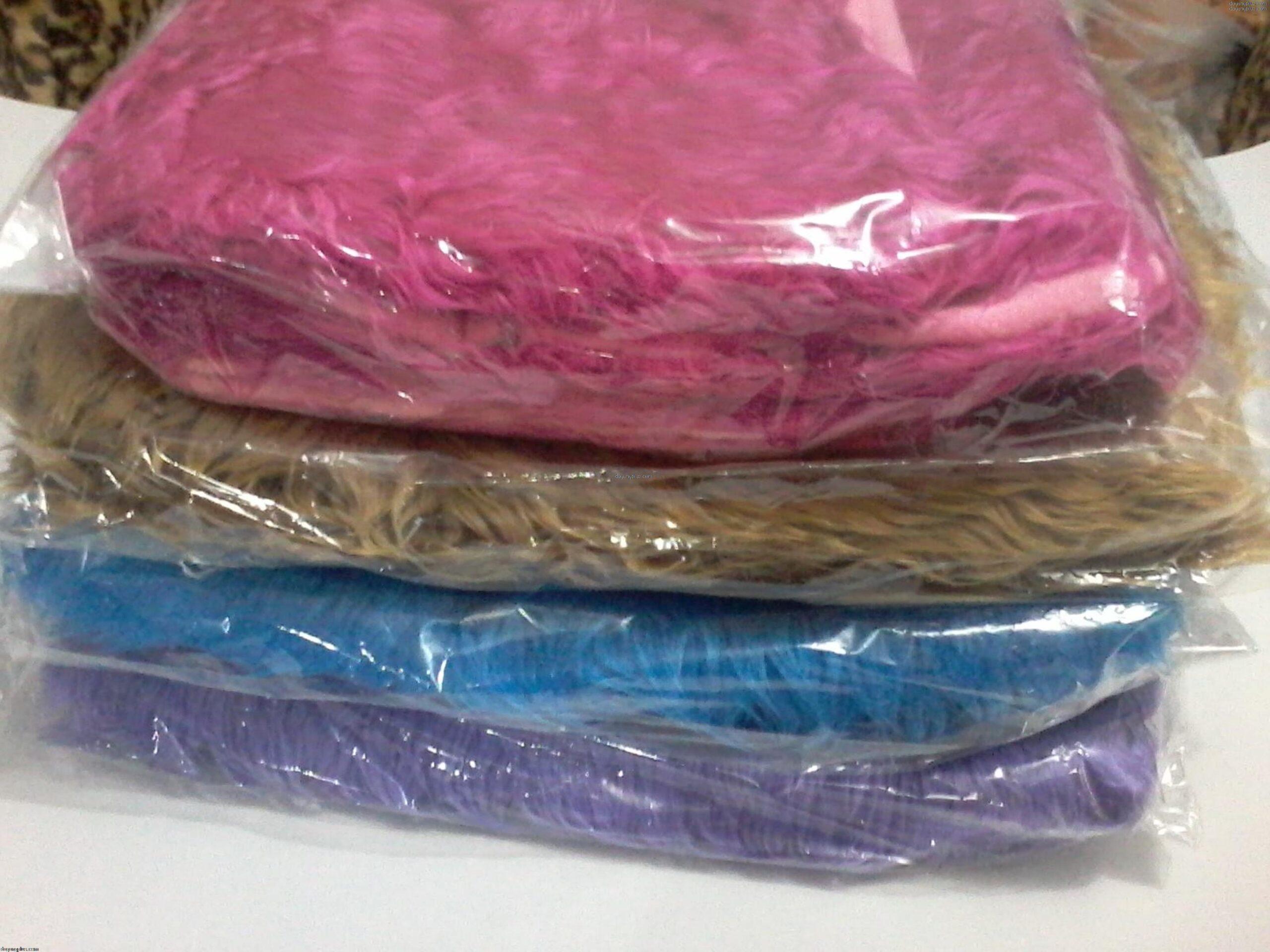 sarung bantal lantai bulu halus - polos warna